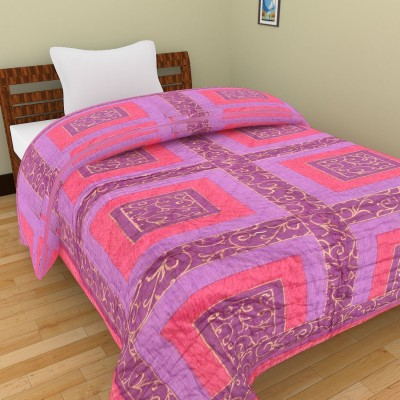 Shra Geometric Single Quilts & Comforters Pink, Purple