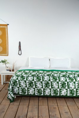 Ocean Collection Geometric Double Quilts & Comforters Multicolor