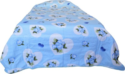 Indian Rack Floral Single Quilts & Comforters Blue, White