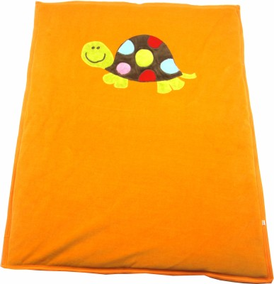 Ahad Plain Double Blanket Orange