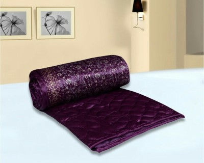 Ndecor Floral King Quilts & Comforters Purple
