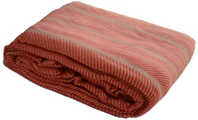 Loomkart Striped Double Blanket Red