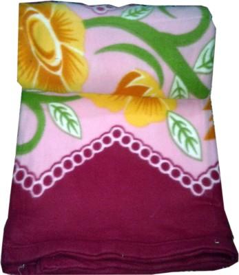 GKEstore Floral Single Blanket Pink
