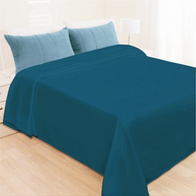 Shopgalore Plain Single Blanket Blue