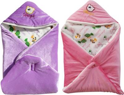 My NewBorn Cartoon Crib Hooded Baby Blanket Purple, Pink