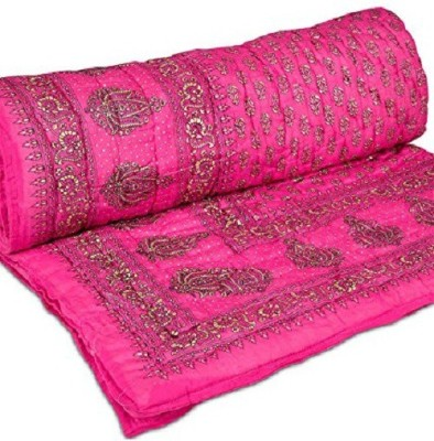 Satchitanand Floral Single Quilts & Comforters Pink City