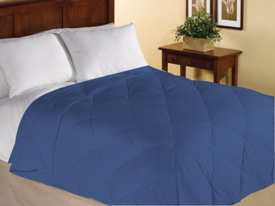 Home Bee USA Plain King Quilts & Comforters Blue