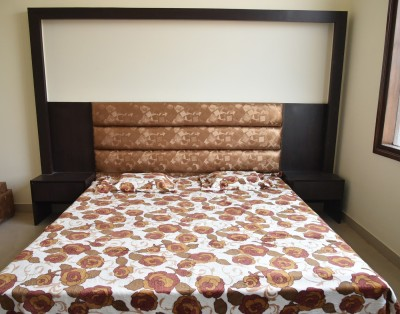 DHANI Printed Double Blanket WHITE AND BROWN