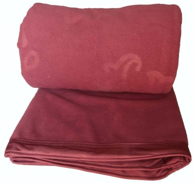 Kotcosy Striped Double Blanket Maroon