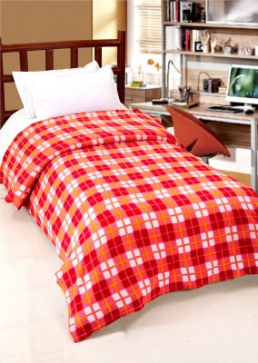 Surhome Checkered Single Blanket Multicolor