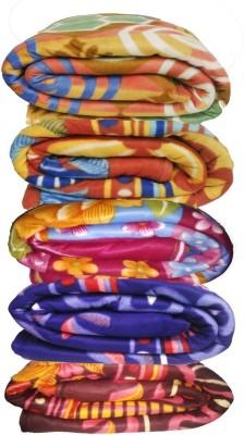 GRJ India Floral Single Blanket Multicolor