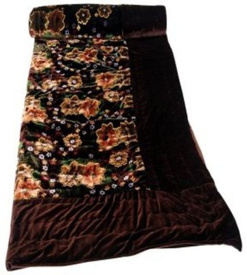 Gruvi Floral Double Blanket Brown