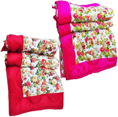 Artisan Creation Floral Single Quilts & Comforters Pink, Red