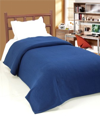 Surhome Plain Single Blanket Blue