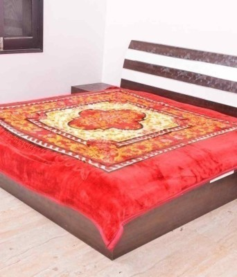 JTM Floral Double Blanket Red