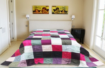 R home Checkered Double Quilts & Comforters Multicolour