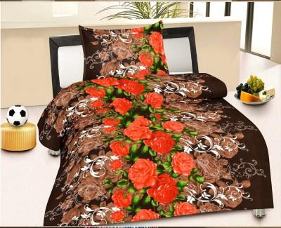 Factorywala Floral Single Blanket Brown