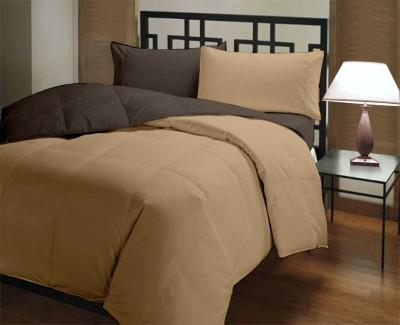 Featherlite Plain Single Quilts & Comforters Brown