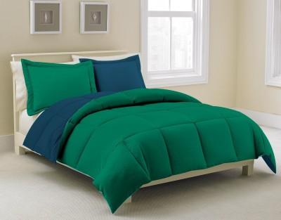 KIAANA USA Plain Single Quilts & Comforters Dark Green, Dark Blue