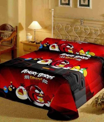 GLOW Cartoon Single Quilts & Comforters Red