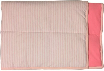 Wobbly Walk Striped Single Blanket White And Pink Strips