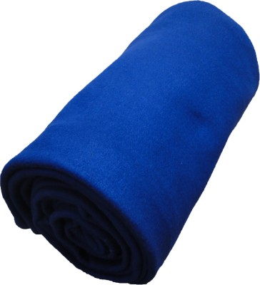 Wonder Collection Plain Single Blanket Blue