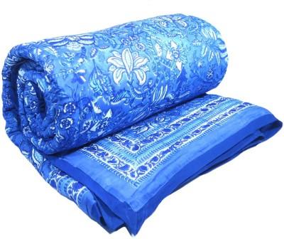 Roopantaran Floral Queen Quilts & Comforters Blue