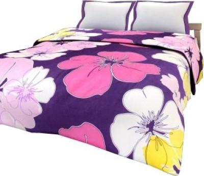 Renown Floral Single Blanket Purple