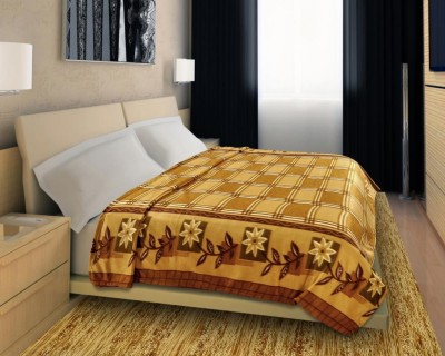 Home Candy Checkered Double Blanket Beige