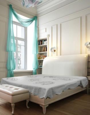 Needlecrest Paisley Double Quilts & Comforters White, Beige