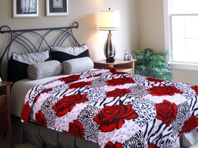 Elegance Floral Single Quilts & Comforters White