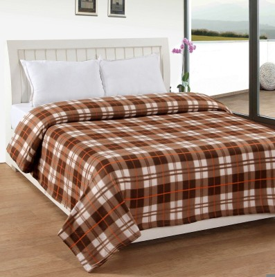 Divine Checkered Double Blanket Brown