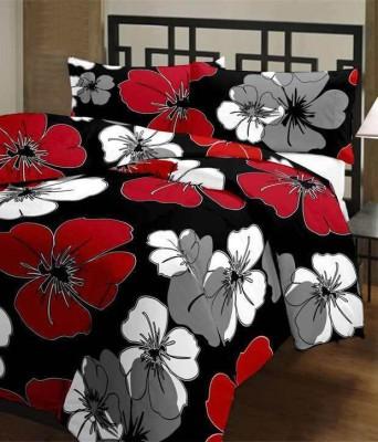 Feel Soft Floral Single Dohar Black, Red