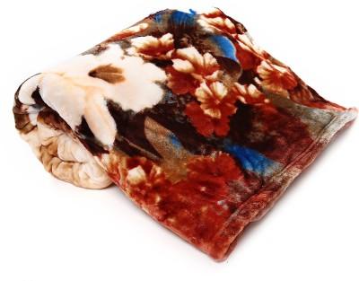 Jain International Floral Single Blanket Multicolor