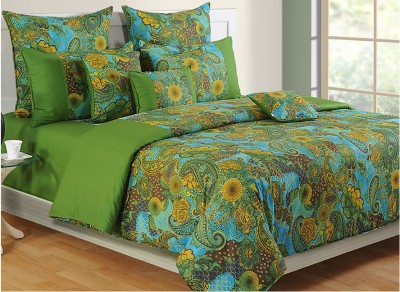Swayam Floral Single Quilts & Comforters Green, Blue, Yellow