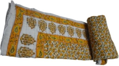 Sparkle Floral Single Quilts & Comforters Yellow