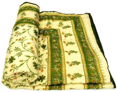 Sudharaj Floral Single Blanket Green