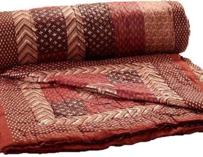 KRG ENTERPRISES Floral Single Quilts & Comforters Brown