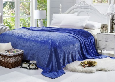 Bombay Dyeing Floral Double Blanket Blue
