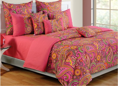 Swayam Paisley Single Quilts & Comforters Pink, Green, Orange