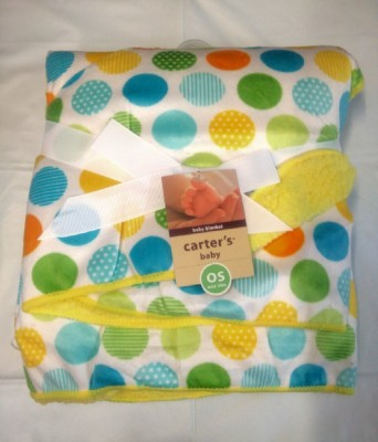Carter's Polka, Printed Single Blanket White, Green, Multicolor
