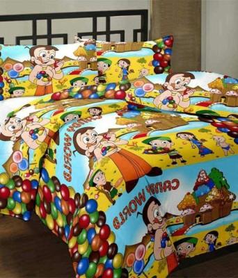 J K Bed Cover Cartoon Single Dohar Multicolor