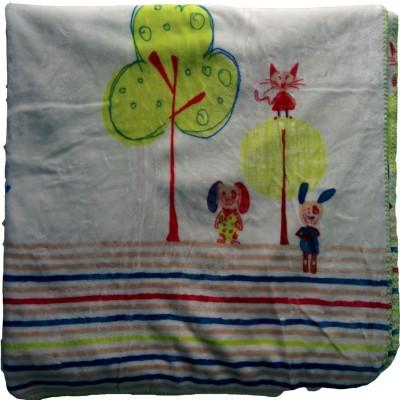 MeeMee Cartoon Single Blanket Multicolor