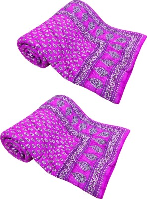 Shop Rajasthan Floral Single Quilts & Comforters Pink