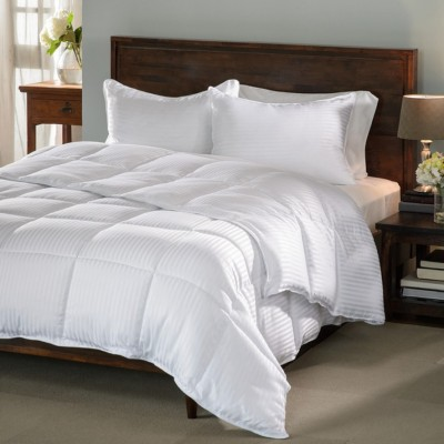 Raymond Home Plain Double Quilts & Comforters White