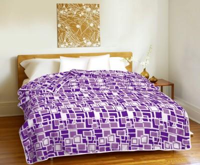 CURL UP Geometric Single Dohar Purple, White