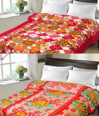 Shivkirpa Floral Double Blanket Multicolor