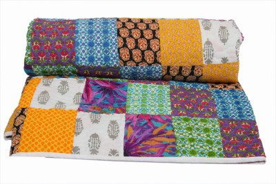 Krishnam Creation Abstract Double Quilts & Comforters Multicolor