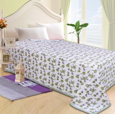 Fabriclair Floral Single Top Sheet Green