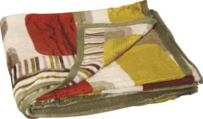 Dexim Abstract Double Blanket Green